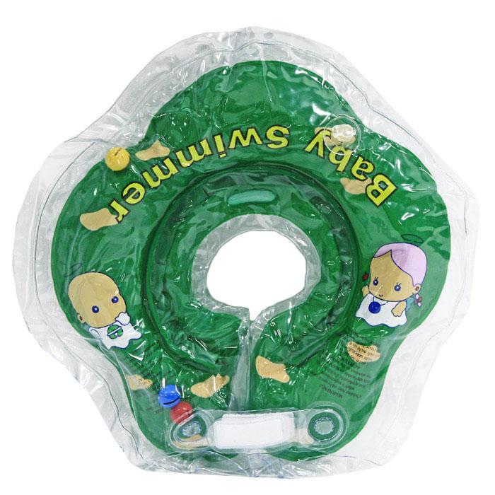 Baby SwimmerКруг на шею с погремушкой цвет зеленый 3-12 кг Baby Swimmer