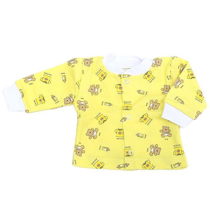 Кофточка детская Фреш Стайл, цвет: желтый. 33-201. Размер 56, от 0 до 3 месяцев