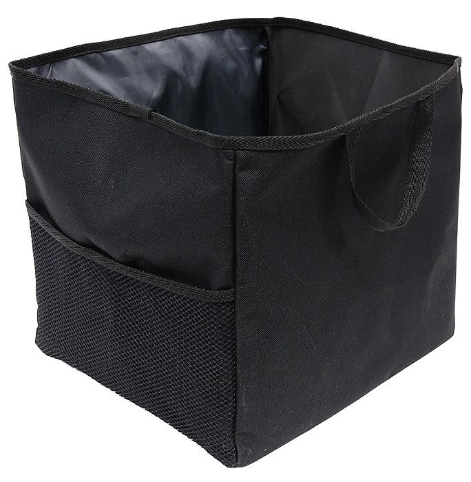 Сумка-органайзер в багажник Comfort Adress, складная, цвет: черныйbag 026Удобная сумка-органайзерComfort Adress, изготовленная из крепкой ткани, вместит в себя все, что разложено по углам багажника. Сумка имеет одно вместительное отделение. На внешней стороне расположен большой сетчатый карман, который отлично подойдет для удобного хранения инструментов. Вставки из плотного материала держат форму сумки-органайзера. На дне сумки пришиты липучки, препятствующие передвижение сумки по багажнику. Для удобной переноски сумки-органайзера имеются две ручки. Характеристики: Материал:непромокаемая ткань ПВХ 600D. Размер:29 см х 35 см х 32 см. Цвет:черный. Производитель:Россия. Артикул:bag 026.