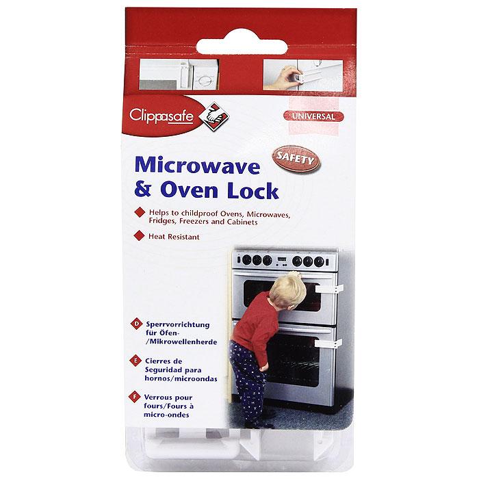 Защитный замок для микроволновой печи Clippasafe, цвет: белый защитный замок на холодильник clippasafe цвет белый