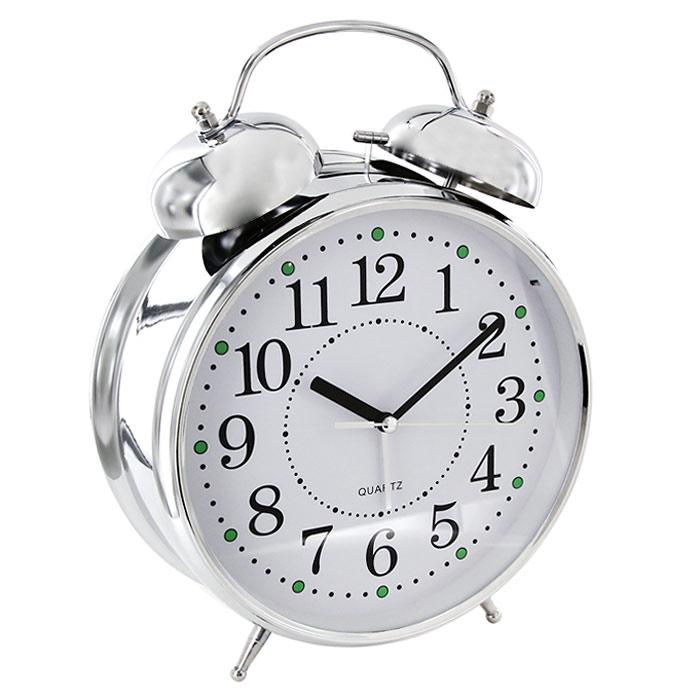 Часы-будильник Гигант, с подсветкой91917Каждое утро вы боитесь проспать? Будьте абсолютно уверены в том, что с таким будильником вам точно не удастся снова уснуть! Теперь вы сможете просыпаться утром под звуки стильного классического будильника Гигант. Большого размера будильник украсит вашу комнату и приведет в восхищение друзей. Будильник работает от батареек. На задней панели будильника расположены переключатель включения/выключения механизма и два колесика для настройки текущего времени и времени звонка будильника. Характеристики: Размер будильника:22 см х 30,5 см х 8 см. Диаметр циферблата: 19,5 см. Материал:пластик, металл, стекло. Размер упаковки:31 см х 24 см х 8,5 см. Производитель:Китай. Артикул: 91917. Необходимо докупить 3 батареи напряжением 1,5V типа (не входят в комплект).