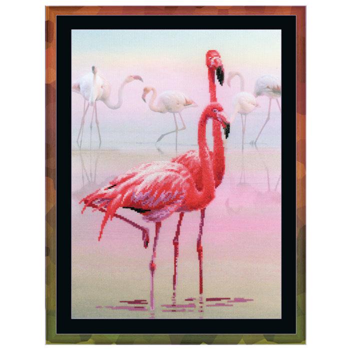 """Набор для вышивания крестом """"Фламинго"""", 30 х 40 см, Riolis"""
