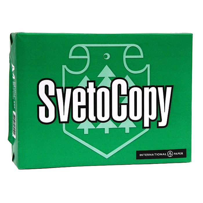 Бумага офисная Svetocopy, 500 листов, А4. 000877000877 (FВТ-SvetoCopy)Офисная бумага Svetocopy - идеальная экономичная бумага для ежедневного делопроизводства, которая подходит для любого принтера и копировального аппарата, независимо от его функционального назначения, набора функций и периода операционной деятельности.Оптимальные показатели белизны, структуры и однородности листа гарантируют высокое качество печати. Характеристики: Плотность: 80 г/м2. Размер листа: 29,7 см х 21 см. Количество: 500 листов. Яркость: 95 %. Цвет: белый.
