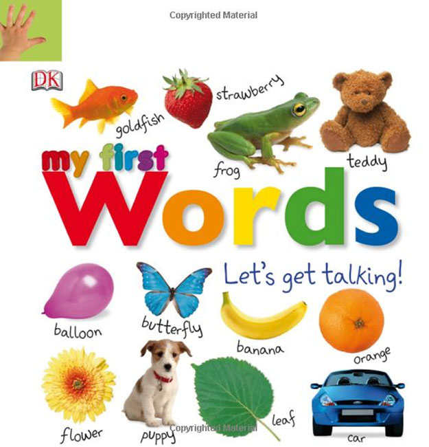 Tabbed Board Books: My First Words: Let's Get Talking! lift the flap word book baby board books learning and educational picture story books stereo book learning word wholesale
