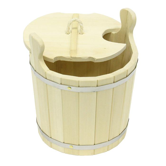 Запарник Банные штучки с крышкой, 8 л03605Запарник Банные штучки, изготовленный из липы, доставит вам настоящее удовольствие от банной процедуры. При запаривании веник обретает свою природную силу и сохраняет полезные свойства. Корпус запарника состоит из металлических обручей стянутых клепками. Для более удобного использования запарник имеет по бокам две небольшие ручки. Также запарник оснащен крышкой с веревочной ручкой и отверстием для ковша.Интересная штука - баня. Место, где одинаково хорошо и в компании, и в одиночестве. Перекресток, казалось бы, разных направлений - общение и здоровье. Приятное и полезное. И всегда в позитиве. Характеристики: Материал: дерево (липа), металл, текстиль. Высота запарника (без учета крышки и ручек): 25,5 см. Диаметр запарника по верхнему краю: 29 см. Объем: 8 л. Размер упаковки: 30 см х 36 см х 33 см. Производитель: Россия. Артикул: 03605.