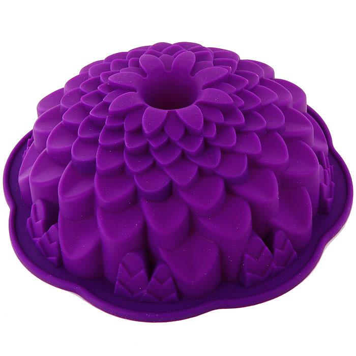 Форма для выпечки Marmiton Хризантема, цвет: фиолетовый, диаметр 21,5 см16045Фигурная форма для выпечки Marmiton Хризантема будет отличным выбором для всех любителей бисквитов и кексов. Благодаря тому, что форма изготовлена из силикона, готовую выпечку или мармелад вынимать легко и просто.С такой формой вы всегда сможете порадовать своих близких оригинальной выпечкой. Материал устойчив к фруктовым кислотам, может быть использован в духовках, микроволновых печах и морозильных камерах (выдерживает температуру от +240°C до -50°C). Можно мыть и сушить в посудомоечной машине.Диаметр формы: 21,5 см.Высота формы: 7 см.
