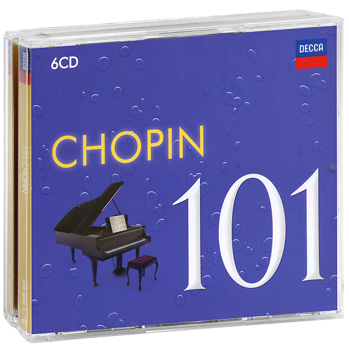 101 Chopin (6 CD) cd диск nelson goerner piano works chopin f 1 cd