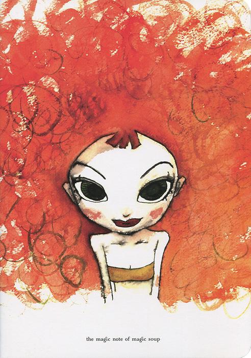 Тетрадь для записей Роковая женщина Шаа, 24 листа, формат А5N03-008Тетрадь для записей Роковая женщина Шаа отлично подойдет для различных записей, а яркий акварельный рисунок на обложке из твердого картона вдохновит на воплощение творческих фантазий. Листы тетради линованные и оформлены забавным рисунком на полях. Характеристики: Материал: бумага, картон. Размер тетради: 21 см x 14,5 см. Производитель: Корея.N03-008.