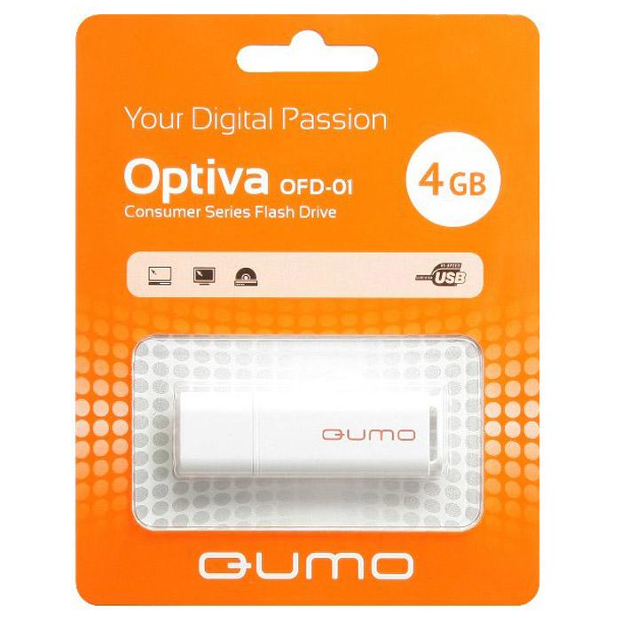 QUMO Optiva 01 4GB, WhiteQM4GUD-OP1-whiteФлэш-накопитель QUMO Optiva 01 идеально подходит для записи любой информации, надежно сохраняет и передает важные данные, песни, снимки.