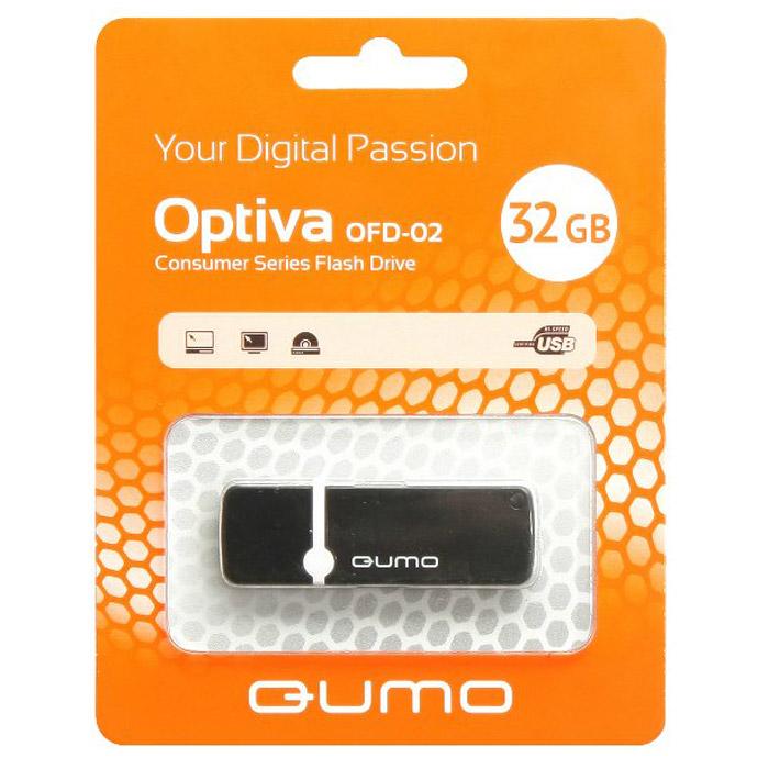QUMO Optiva 02 32GB, BlackQM32GUD-OP2-blackФлэш-накопитель QUMO Optiva 02 идеально подходит для записи любой информации, надежно сохраняет и передает важные данные, песни, снимки.