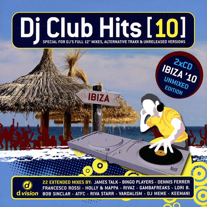 DJ Club.Hits (10) (2 CD) музыка cd dvd dsd 1cd
