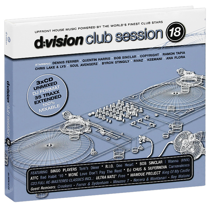 Боб Синклер,R.I.O.,Romanthony,Деннис Феррер,DJ Chus,Барбара Такер,Квентин Харрис D:Vision Club Session Vol. 18 (3 CD)