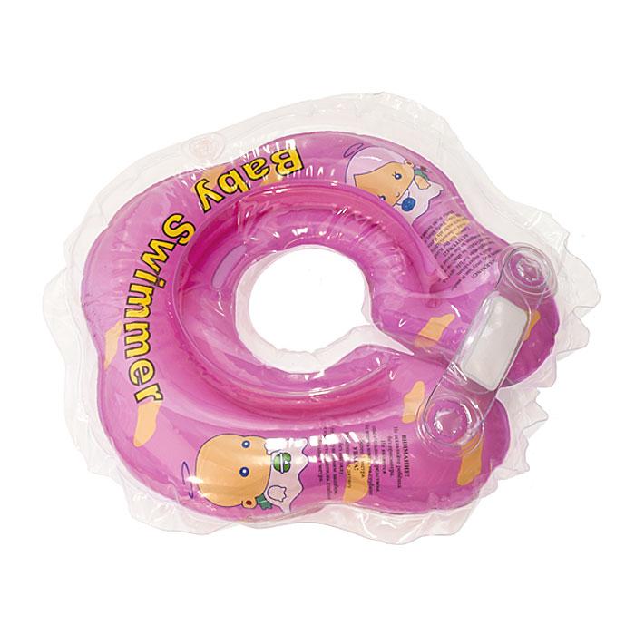 Круг на шею Baby Swimmer, цвет: розовый, 3-12кг круг надувной baby swimmer розовый полуцвет 3 12 кг bs02p