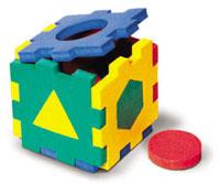 Флексика Мягкий конструктор Кубик с геометрическими фигурками флексика мягкий конструктор вертолетик