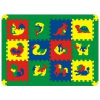 Коврик-пазл  Животные , 12 элементов - Игрушки для малышей
