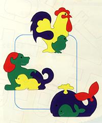 Флексика Мягкая мозаика Фигурки животных №2, цвет в ассортименте