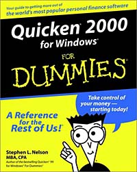 Quicken 2000 for Windows for Dummies stephen l nelson quicken 2005 for dummies