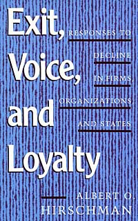 Exit Voice and Loyalty: Responses to Decline in Firms, Organizations, and States vigirdas mackevicius integral and measure from rather simple to rather complex isbn 9781119037385