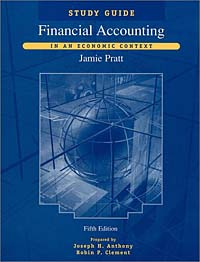 Pratt Financial Accounting in an Economic Context principles of financial accounting