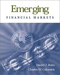 Emerging Financial Markets david wilson visual guide to financial markets