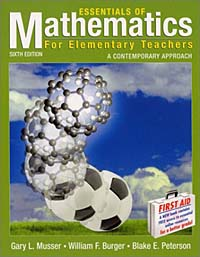 Essentials of Mathematics for Elementary Teachers  : A Contemporary Approach gary l musser physical manipulatives to accompany mathematics for elementary teachers