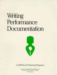 Writing Performance Documentation: A Self-Paced Training Program