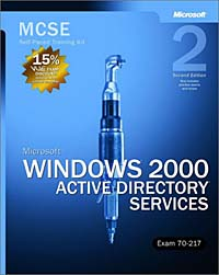 MCSE Self-Paced Training Kit: Microsoft Windows 2000 Active Directory Services, Exam 70-217, Second Edition todd lammle ccna icnd2 study guide exam 200 105