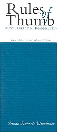 Rules of Thumb for Online Research the rules of modern policing 1973 edition
