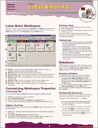 Lotus Notes 4.6 Quick Source Guide corel wordperfect 9 0 quick source reference guide
