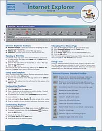 Internet Explorer 5.0 Quick Source Guide unique by step page 6