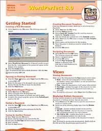 Corel WordPerfect 8.0 Quick Source Guide corel wordperfect 9 0 quick source reference guide