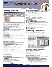 Corel WordPerfect 9.0 Quick Source Reference Guide corel wordperfect 9 0 quick source reference guide