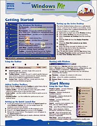 Microsoft Windows ME Quick Source Reference Guide corel wordperfect 9 0 quick source reference guide