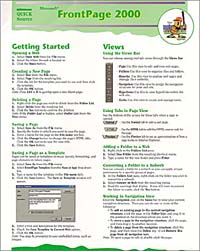 Microsoft FrontPage 2000 Quick Source Guide unique by step page 6