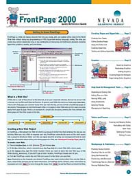 FrontPage 2000 access 97 quick reference guide