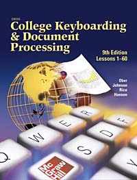 Gregg College Keyboarding & Document Processing (GDP), Lessons 61-120, Kit 2, Word 2000