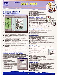Microsoft Visio 2000 Quick Source Reference Guide corel wordperfect 9 0 quick source reference guide