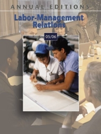 Annual Editions : Labor-Management Relations 05/06 pre term labor and its management
