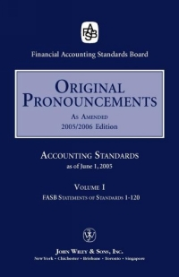 2005 Original Pronouncements (Accounting Standards Original Pronouncements; 3-Volume Set) 2006 fasb statements of financial accounting concepts
