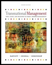 Transnational Management: Text and Cases global and transnational business strategy and management page 2