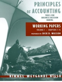 Working Papers Vol. 1 (Ch. 1-14) to accompany Principles of Accounting principles of financial accounting