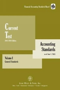 Current Text, Volumes I General Standards & II Industry Standards Topical Index/Appendixes, Package (Accounting Standards Current Text) ittelson thomas financial statements