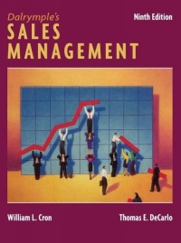 Dalrymple's Sales Management : Concepts and Cases jonathan whistman the sales boss the real secret to hiring training and managing a sales team