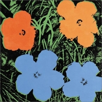 Jeff Koons & Andy Warhol: Flowers andy warhol by pepe jeans короткое платье