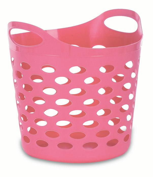 Корзина-сумка Gensini, универсальная, цвет: розовый, 13 л3312Универсальная корзина-сумка Gensini отлично подойдет для хранения белья перед стиркой, игрушек и других вещей. Она выполнена из высококачественного мягкого пластика и оснащена двумя удобными ручками для переноски. Боковые стенки оформлены перфорацией, которая обеспечивает вентиляцию белья. Современный дизайн корзины-сумки позволит ей вписаться в любой интерьер, а благодаря своим компактным размерам она не займет много места.