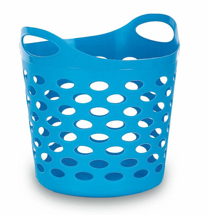 Корзина универсальная Gensini, цвет: голубой, 32 л3310Универсальная корзина Gensini отлично подойдет для хранения белья перед стиркой, игрушек и других вещей. Она выполнена из высококачественного мягкого пластика и оснащена двумя удобными ручками для переноски. Современный дизайн корзины позволит ей вписаться в любой интерьер, а благодаря своим компактным размерам она не займет много места. Диаметр корзины (без учета ручек): 37 см. Высота корзины (без учета ручек): 31 см. Высота корзины (с учетом ручек): 38 см. Объем корзины: 32 л.