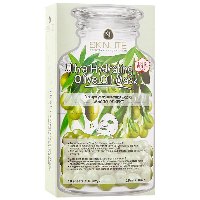 Маска Skinlite Масло оливы, ультра увлажняющая, 10 штSL-237Ультра увлажняющая маска Skinlite Масло оливы содержит уникальную смесь оливкового масла, коллагена и витамина Е, обеспечивающих интенсивное увлажнение для усталой и сухой кожи.Оливковое масло питает, смягчает, восстанавливает защитные функции кожи, замедляет процесс преждевременного старения.При регулярном применении маски кожа становится мягкой, гладкой и увлажненной!Способ применения: полностью очистите лицо, аккуратно приложите маску к лицу, убедившись, что она плотно прилегает к коже. Оставьте на 15-20 минут. Снимите, медленно потянув за края. Характеристики:Количество масок: 10 шт. Объем одной маски: 18 мл. Размер упаковки: 18 см х 10,5 см х 4 см. Производитель: Южная Корея. Артикул:SL-236.Товар сертифицирован.