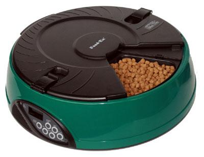 Автоматическая кормушка  Feed-Ex , на 6 кормлений, цвет: зеленый - Аксессуары для кормления
