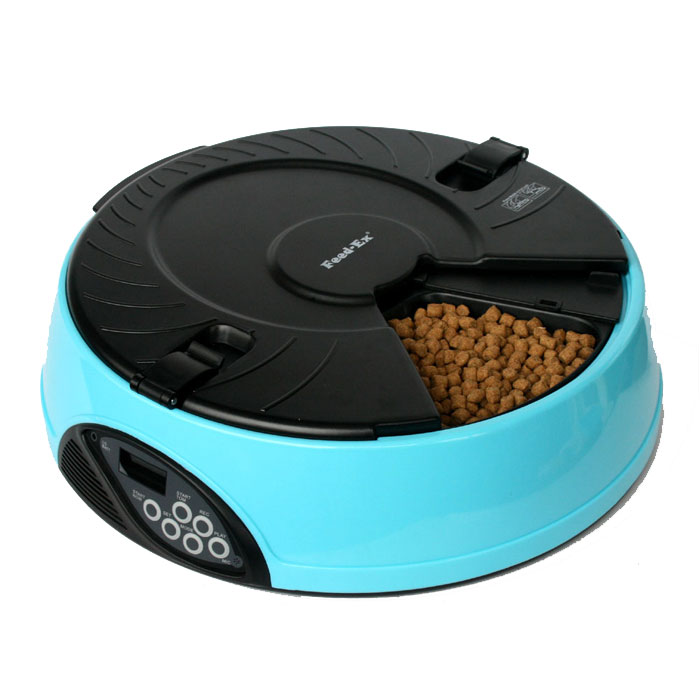 Автоматическая кормушка  Feed-Ex , на 6 кормлений, цвет: голубой - Аксессуары для кормления