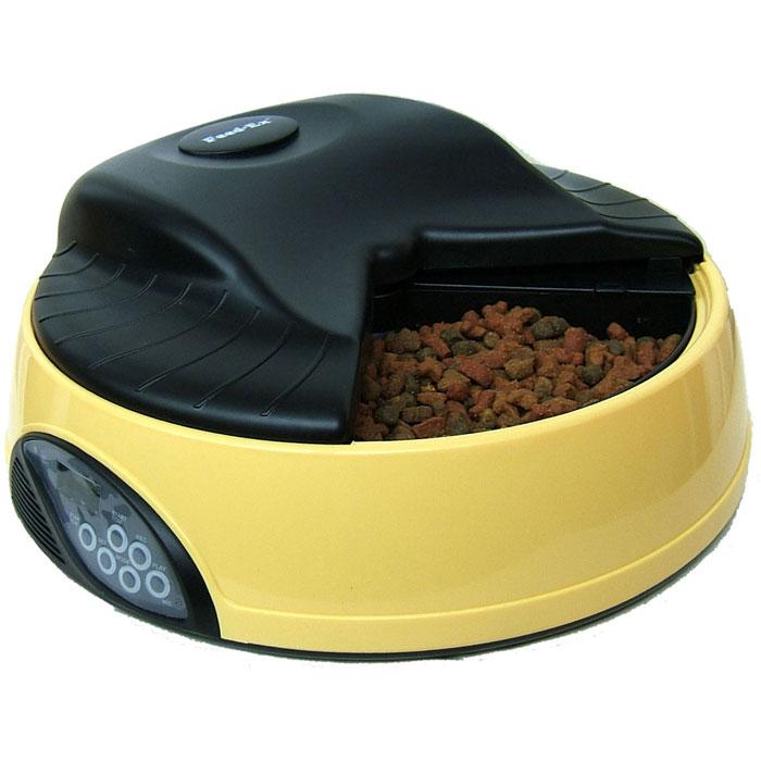 Автоматическая кормушка  Feed-Ex , на 4 кормления, с емкостью для льда или воды, цвет: желтый - Аксессуары для кормления